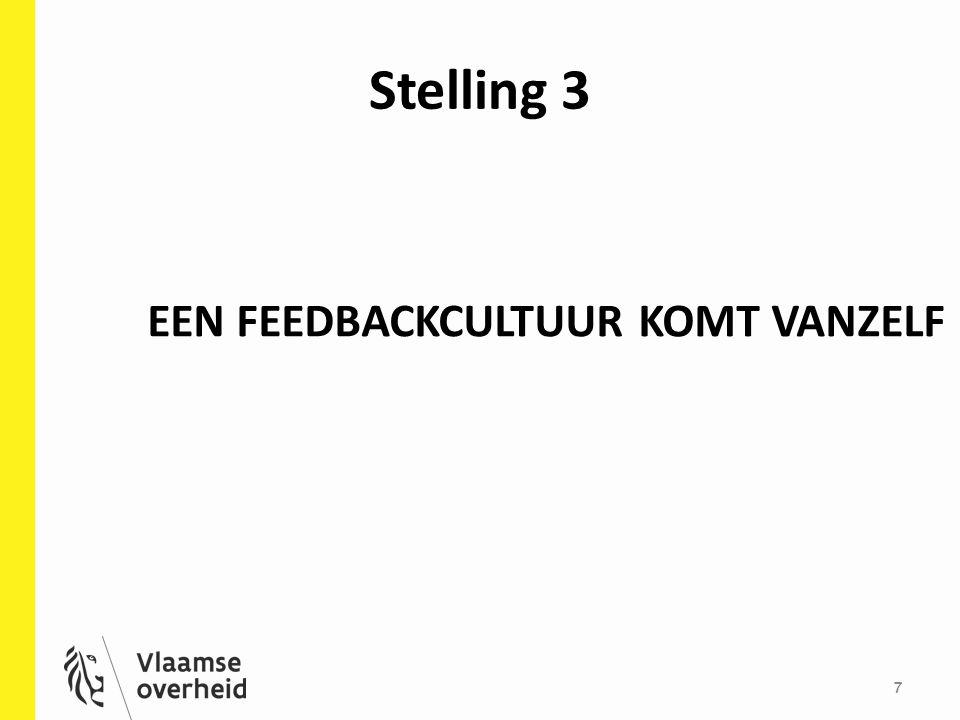 Stelling 3 EEN FEEDBACKCULTUUR KOMT VANZELF