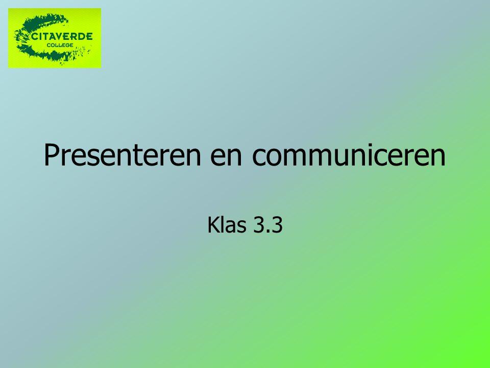 Presenteren en communiceren