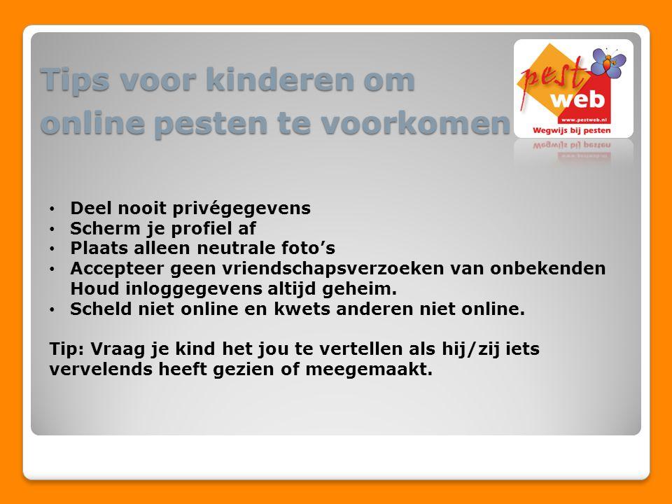 Tips voor kinderen om online pesten te voorkomen