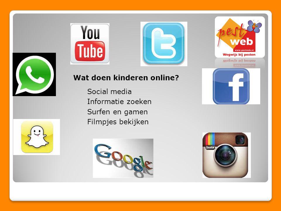 Wat doen kinderen online Social media Informatie zoeken