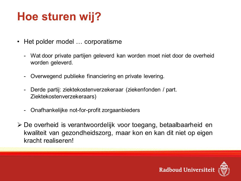 Hoe sturen wij Het polder model … corporatisme