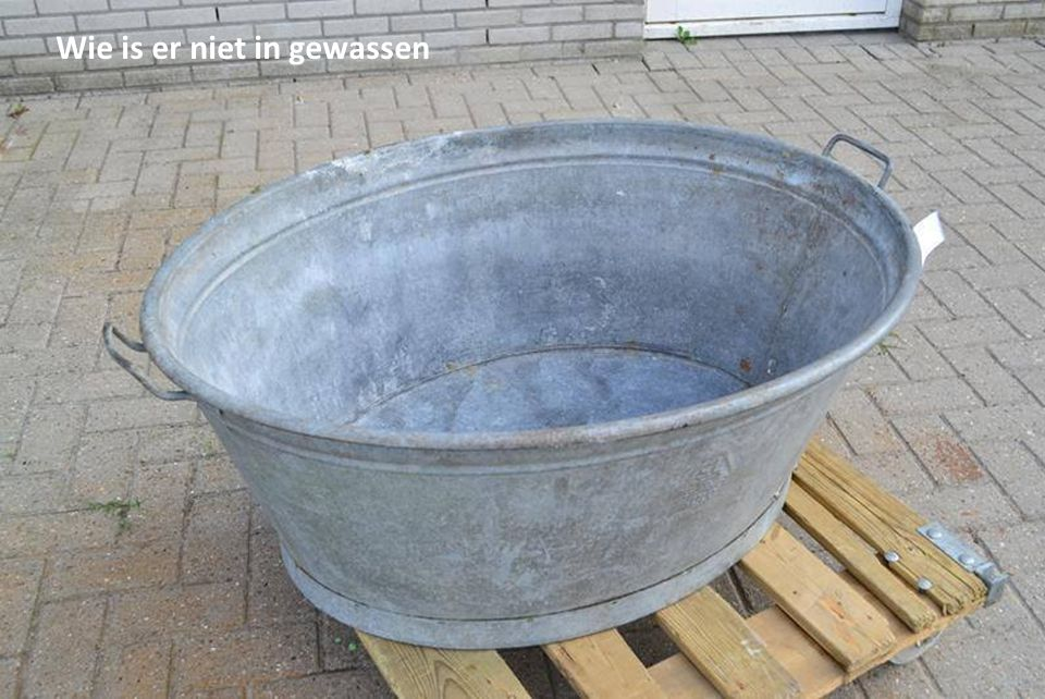 Wie is er niet in gewassen