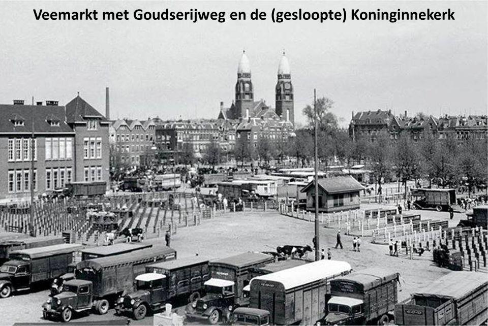 Veemarkt met Goudserijweg en de (gesloopte) Koninginnekerk