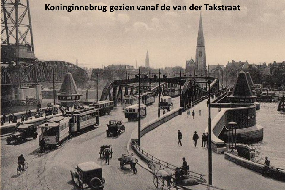 Koninginnebrug gezien vanaf de van der Takstraat