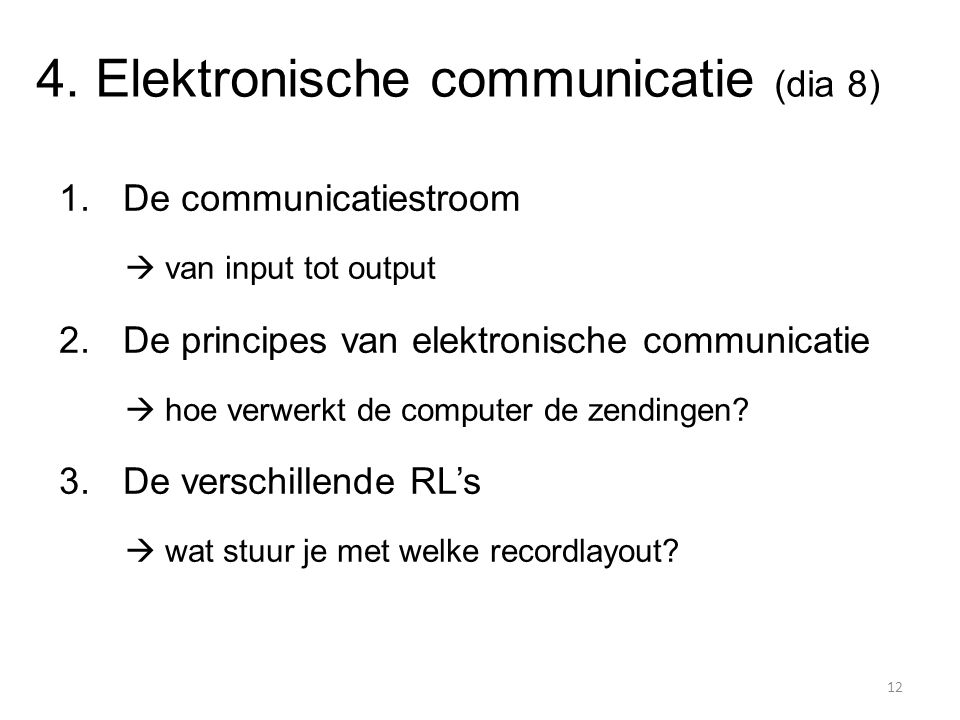 4. Elektronische communicatie (dia 8)