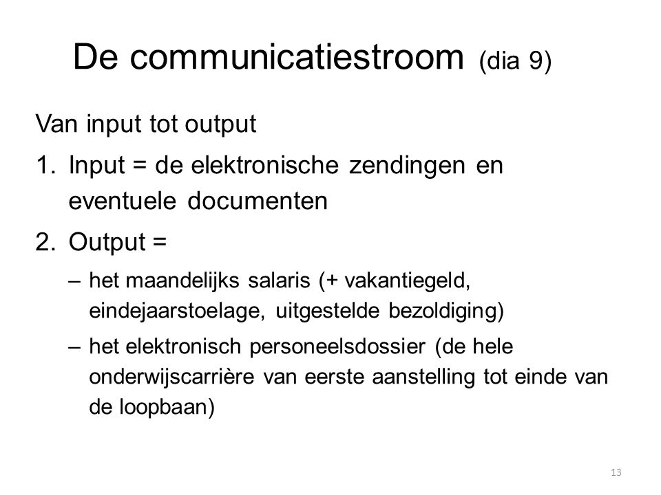De communicatiestroom (dia 9)