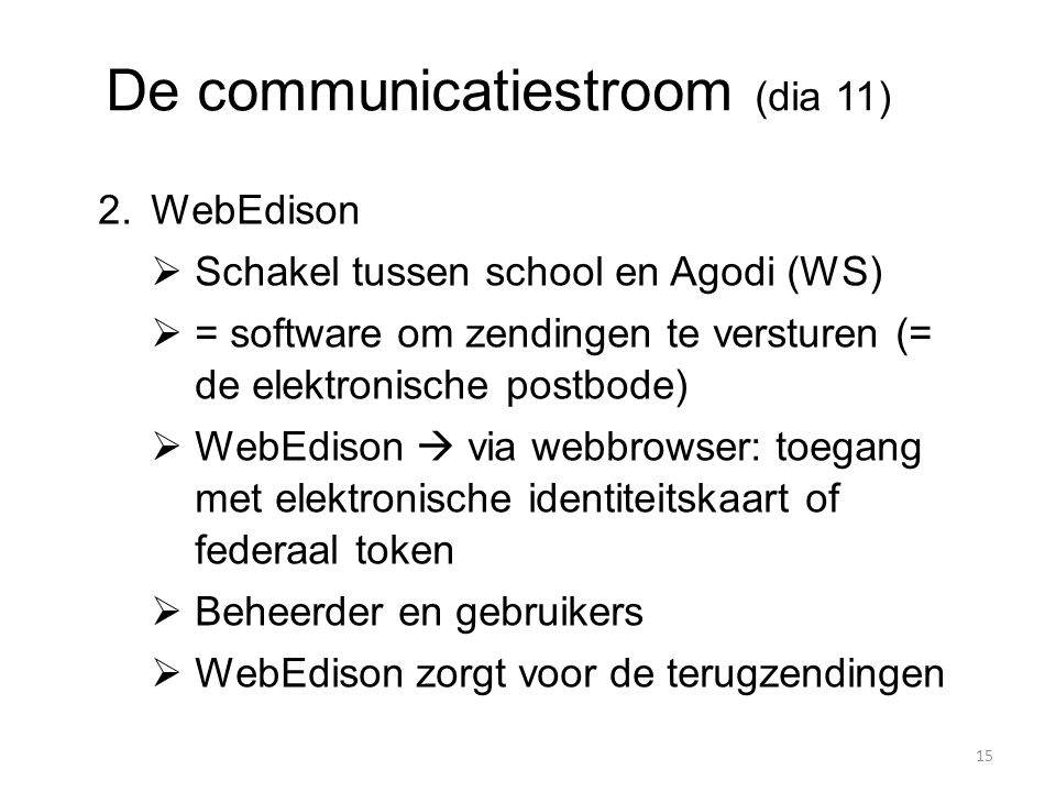 De communicatiestroom (dia 11)