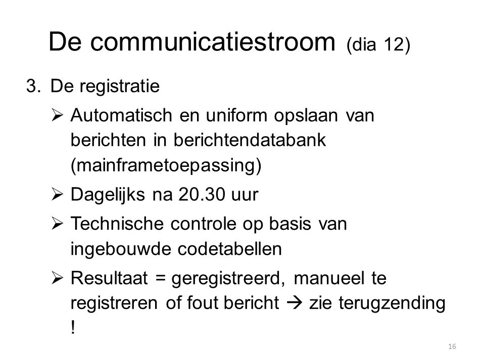 De communicatiestroom (dia 12)