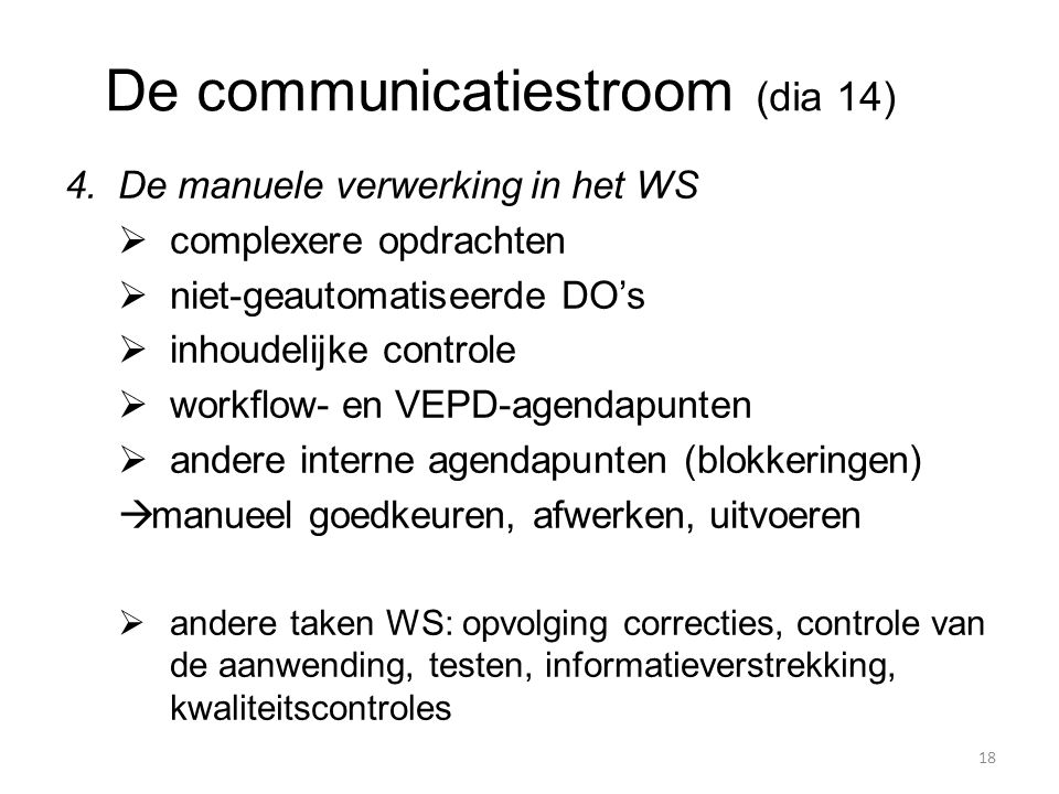 De communicatiestroom (dia 14)