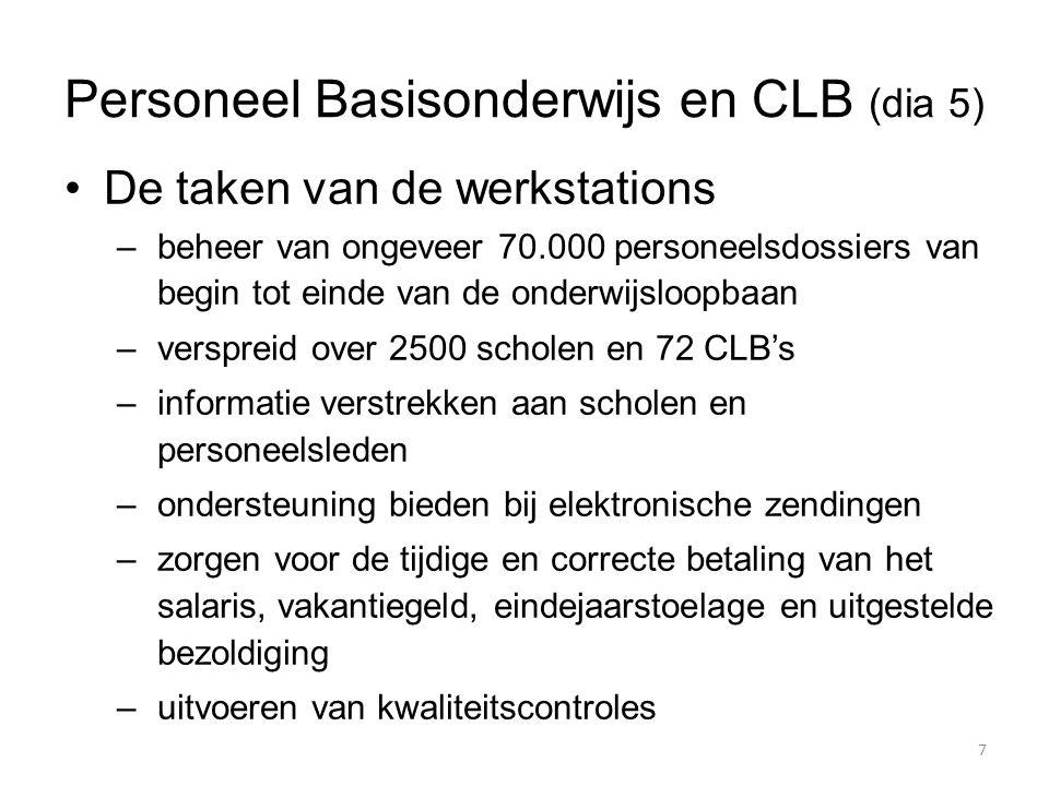 Personeel Basisonderwijs en CLB (dia 5)