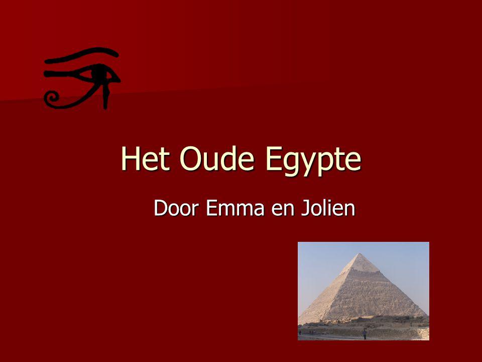 Het Oude Egypte Door Emma en Jolien