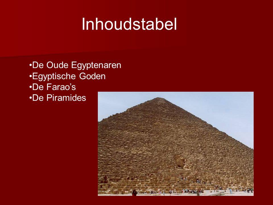 Inhoudstabel De Oude Egyptenaren Egyptische Goden De Farao's