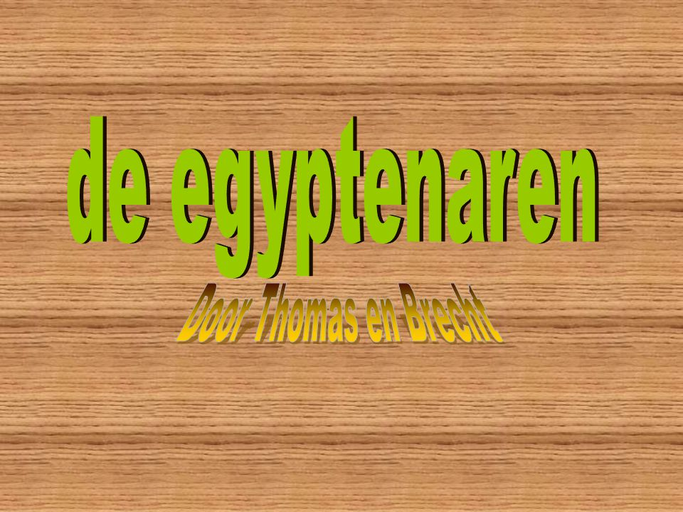 de egyptenaren Door Thomas en Brecht