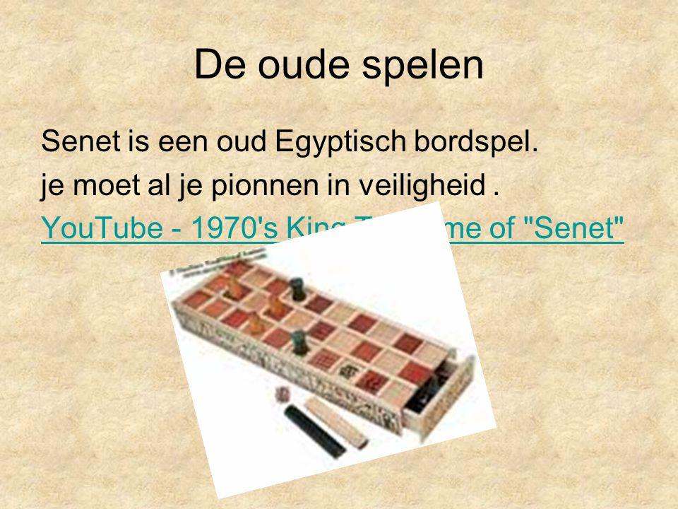 De oude spelen Senet is een oud Egyptisch bordspel.