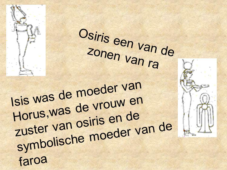 Osiris een van de zonen van ra