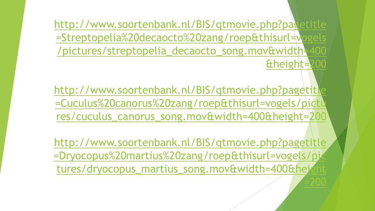 http://www. soortenbank. nl/BIS/qtmovie. php