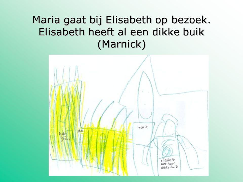 Maria gaat bij Elisabeth op bezoek