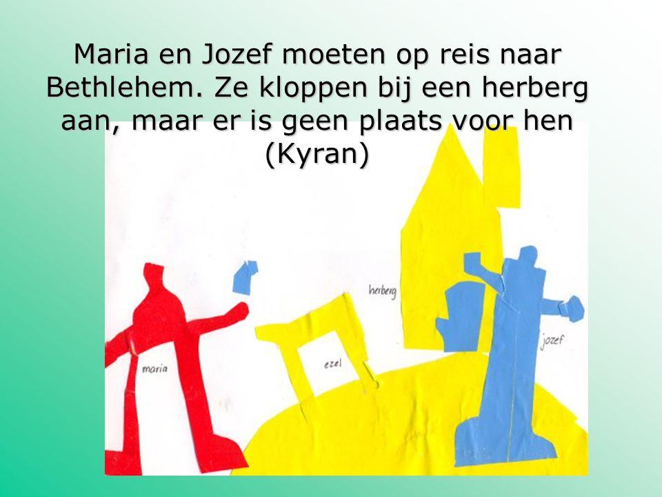 Maria en Jozef moeten op reis naar Bethlehem