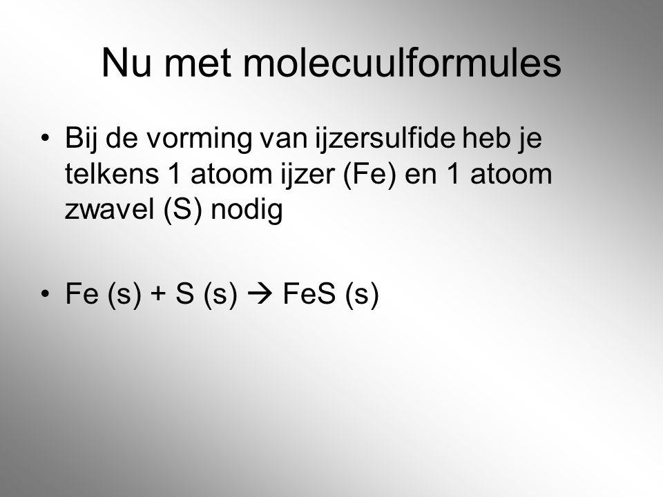 Nu met molecuulformules