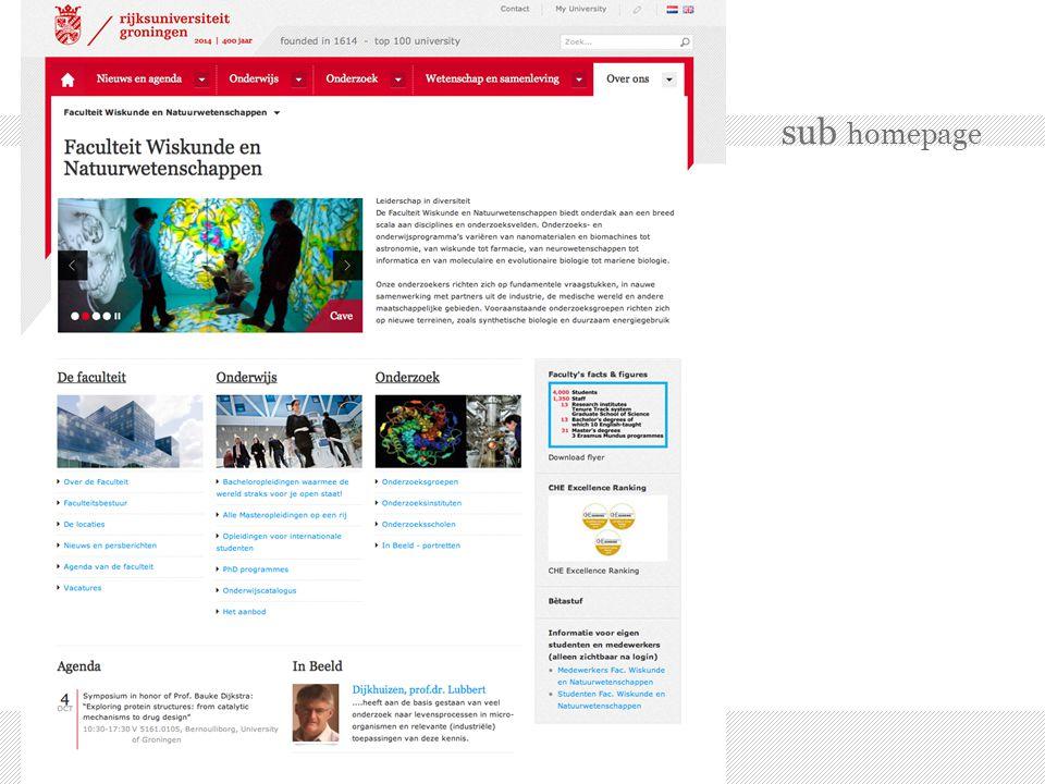 sub homepage