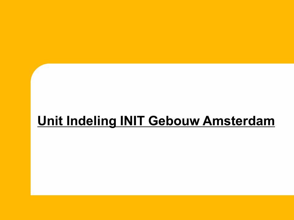 Unit Indeling INIT Gebouw Amsterdam