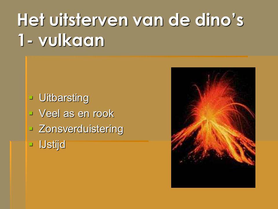 Het uitsterven van de dino's 1- vulkaan