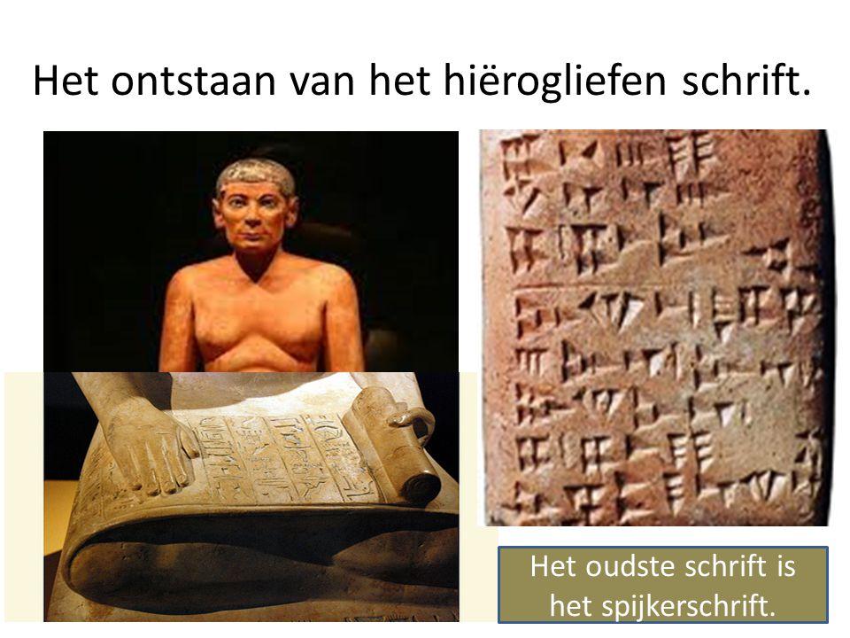 Het ontstaan van het hiërogliefen schrift.