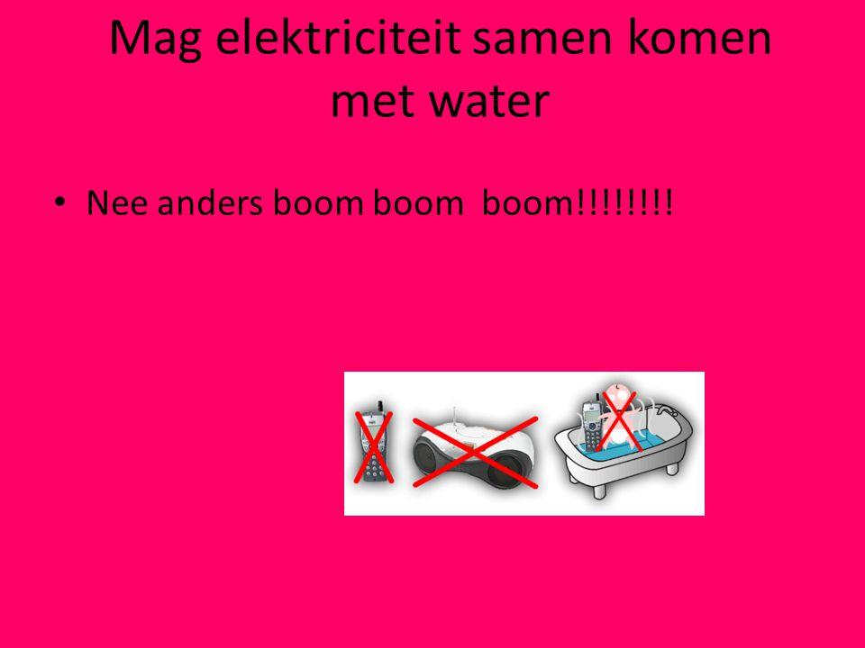 Mag elektriciteit samen komen met water