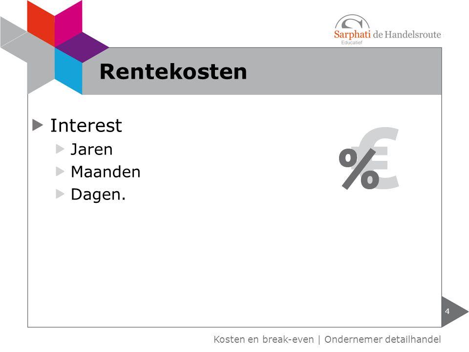 Rentekosten Interest Jaren Maanden Dagen.