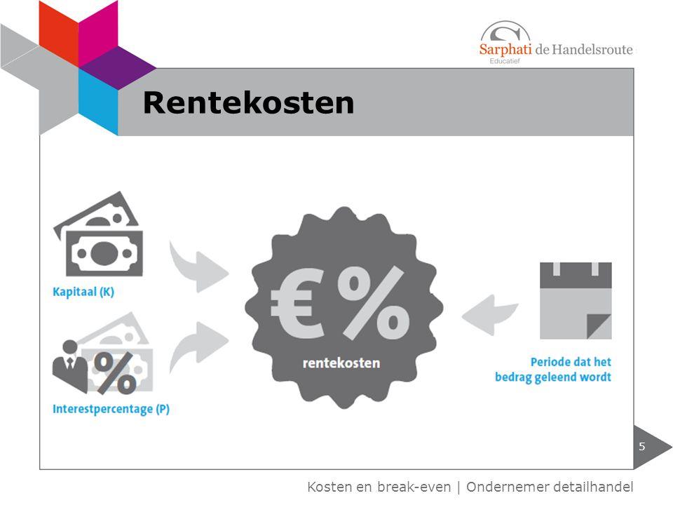 Rentekosten Kosten en break-even | Ondernemer detailhandel