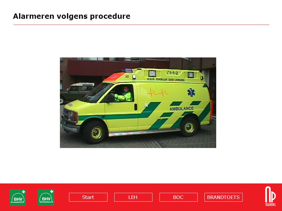 Alarmeren volgens procedure