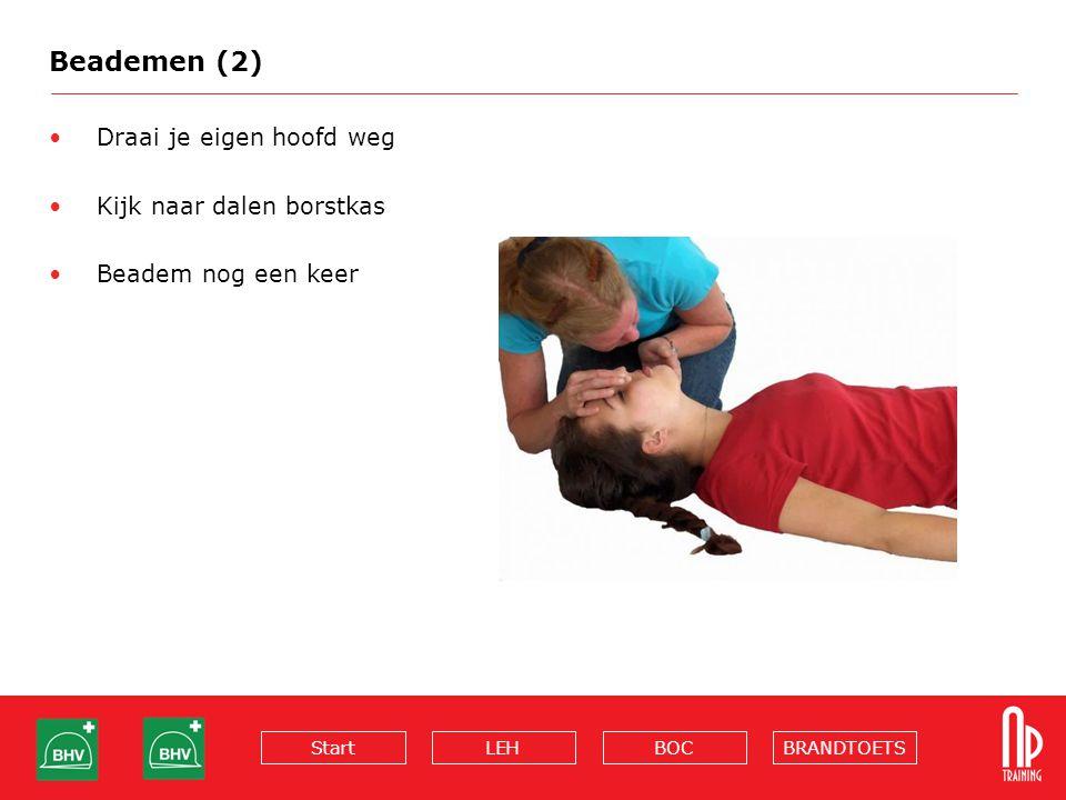 Beademen (2) Draai je eigen hoofd weg Kijk naar dalen borstkas