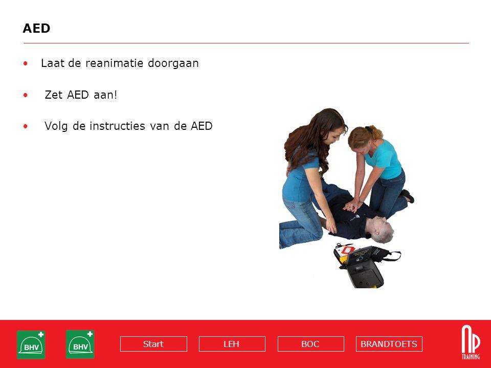 AED Laat de reanimatie doorgaan Zet AED aan!