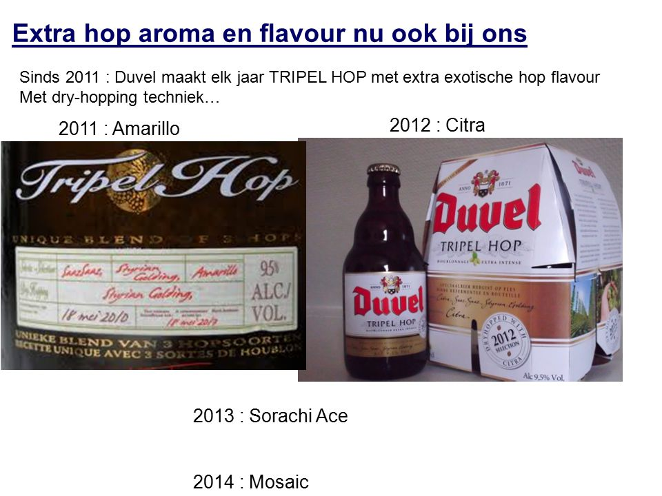 Extra hop aroma en flavour nu ook bij ons