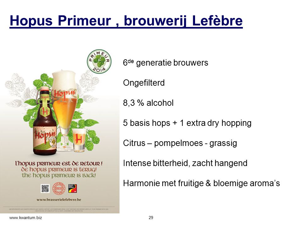 Hopus Primeur , brouwerij Lefèbre