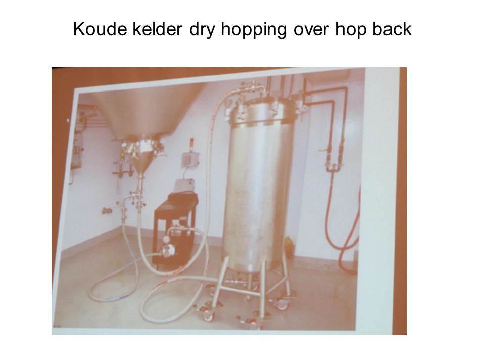 Koude kelder dry hopping over hop back