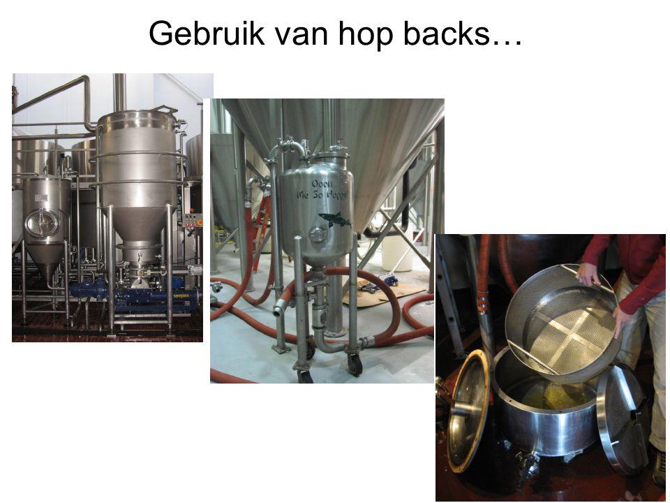 Gebruik van hop backs…