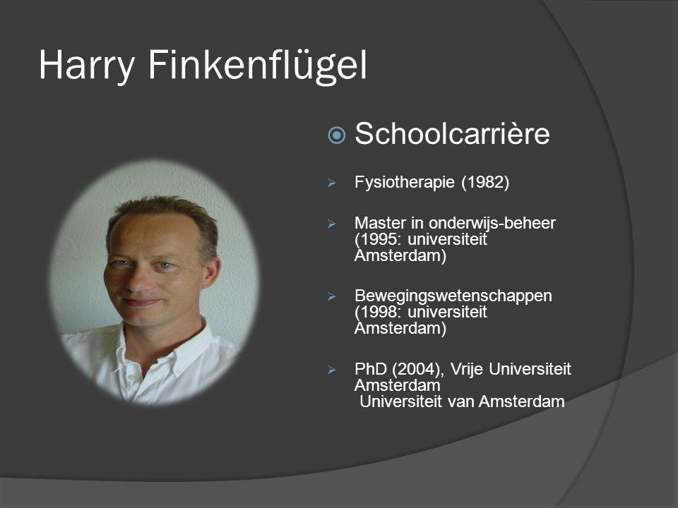 Harry Finkenflügel Schoolcarrière Fysiotherapie (1982)
