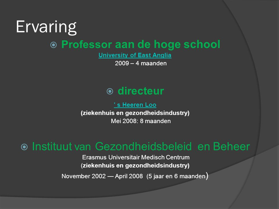Professor aan de hoge school University of East Anglia