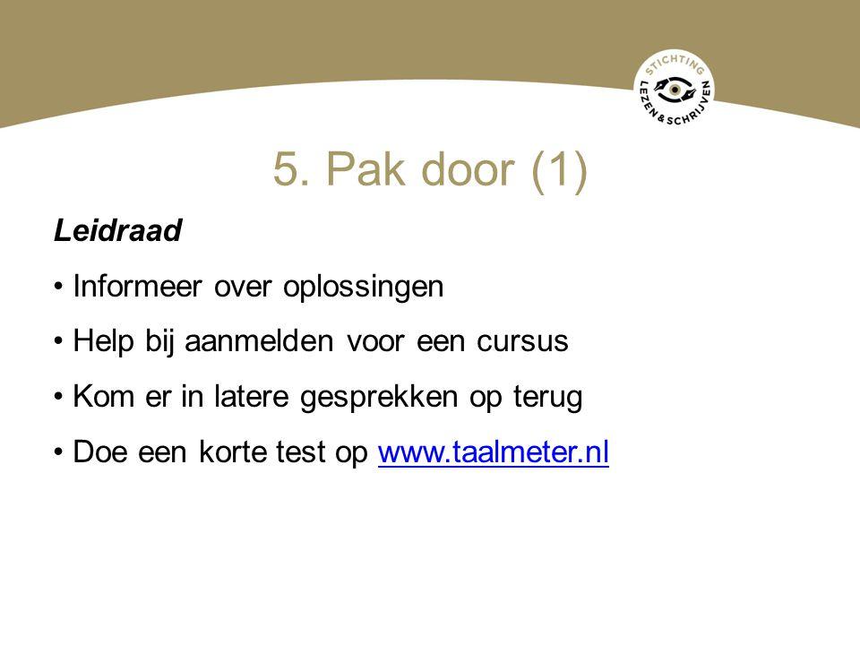 5. Pak door (1) Leidraad Informeer over oplossingen
