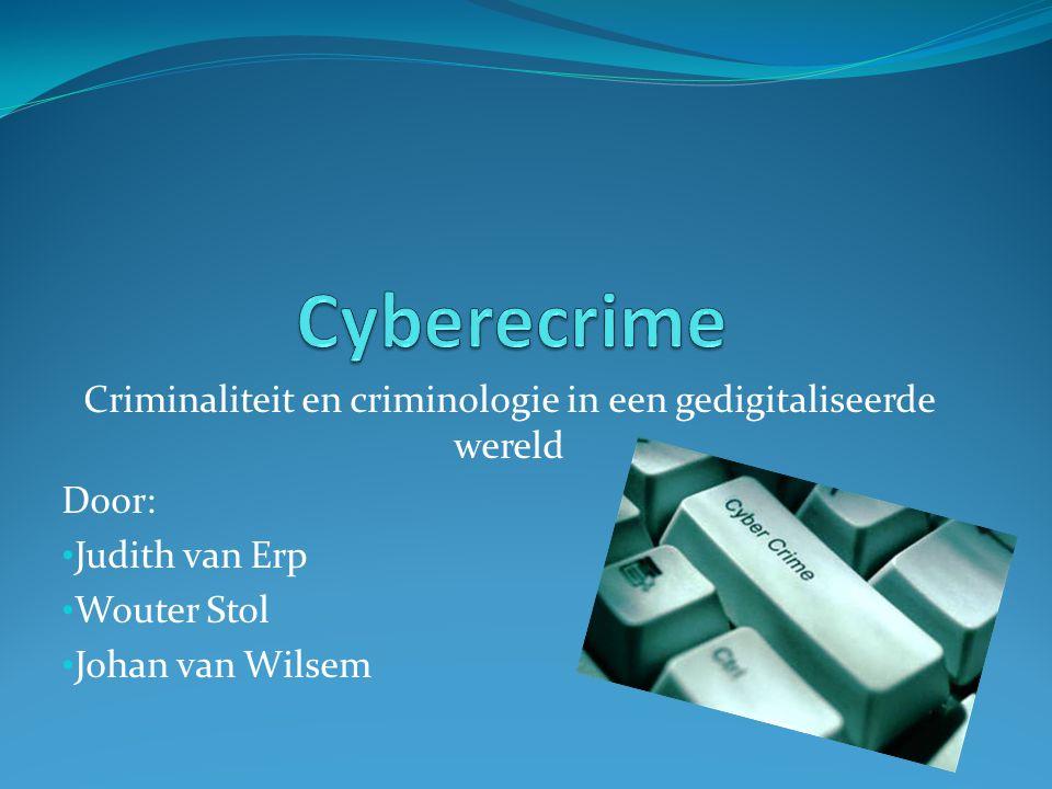 Criminaliteit en criminologie in een gedigitaliseerde wereld