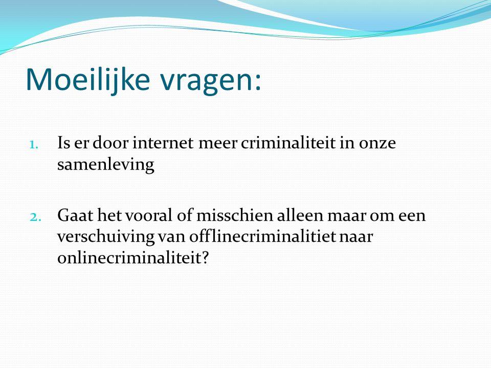 Moeilijke vragen: Is er door internet meer criminaliteit in onze samenleving.