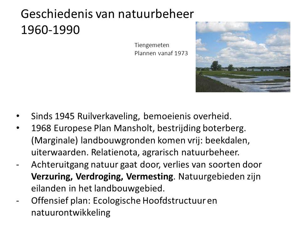 Geschiedenis van natuurbeheer 1960-1990