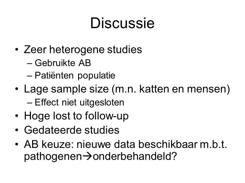 Discussie Zeer heterogene studies