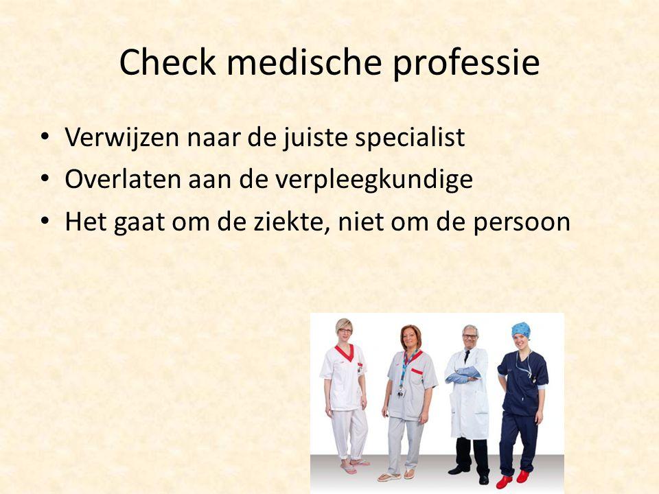 Check medische professie