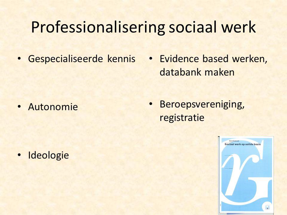 Professionalisering sociaal werk