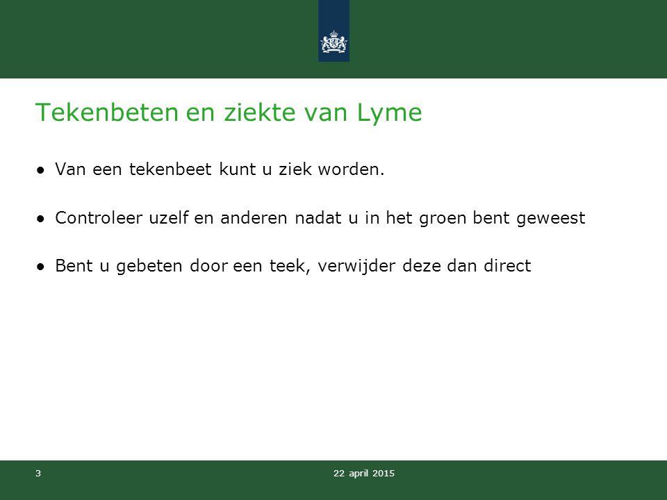 Tekenbeten en ziekte van Lyme
