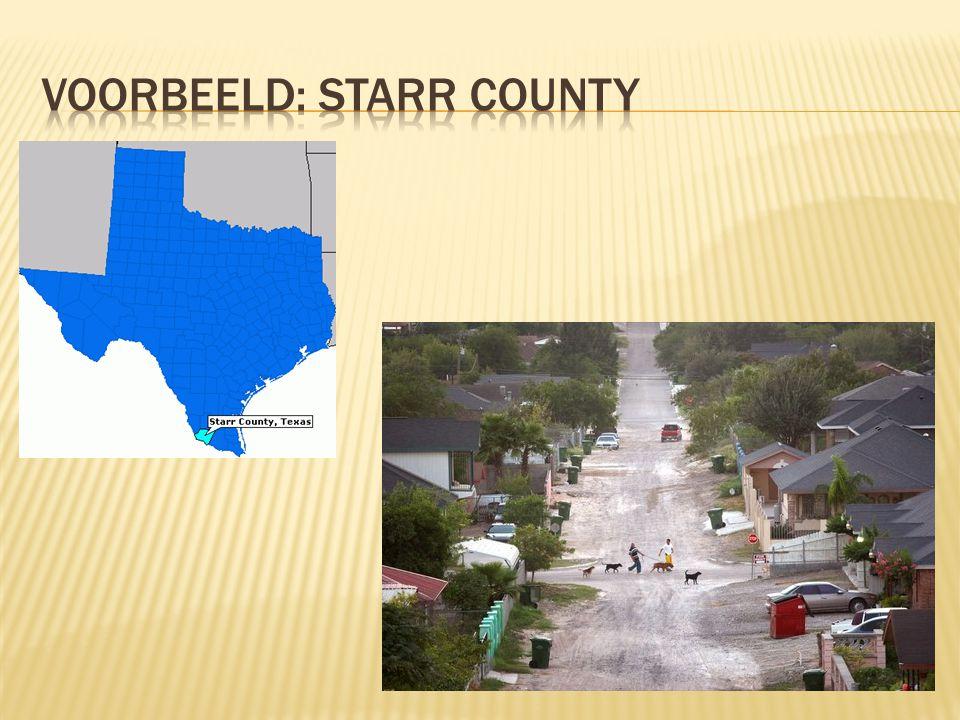 Voorbeeld: starr county