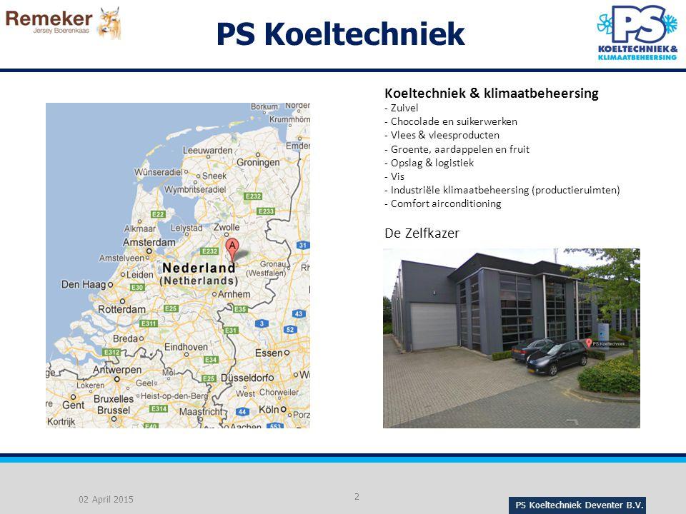 PS Koeltechniek Koeltechniek & klimaatbeheersing De Zelfkazer Zuivel