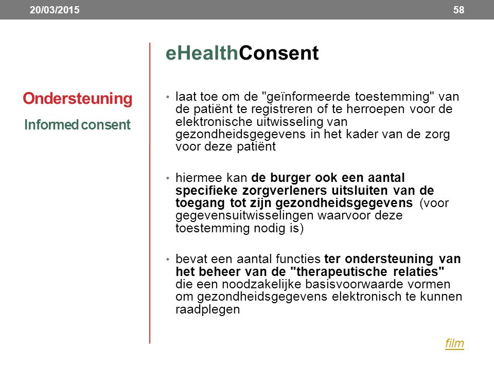 eHealthConsent Ondersteuning Informed consent
